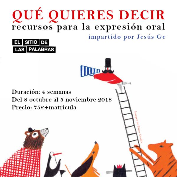cartel QUE QUIERES DECIR web 02