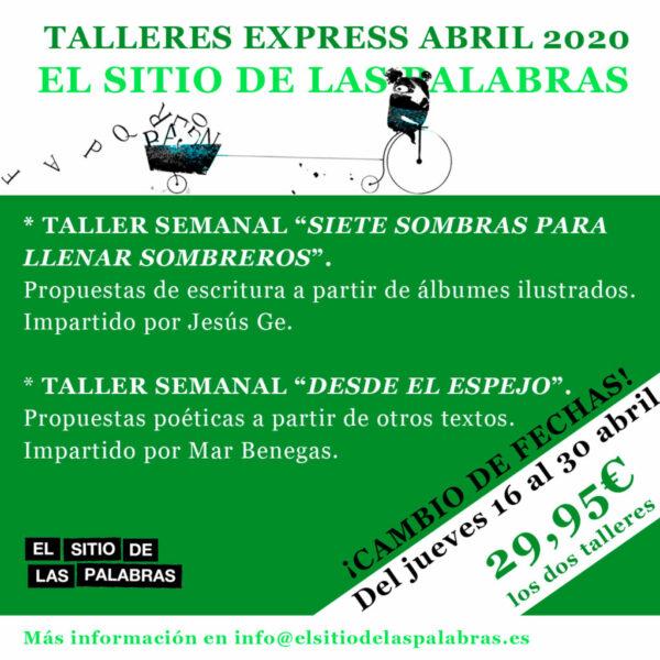 TALLERES EXPRESS abril 2020 800 x 800 CAMBIO DE FECHA
