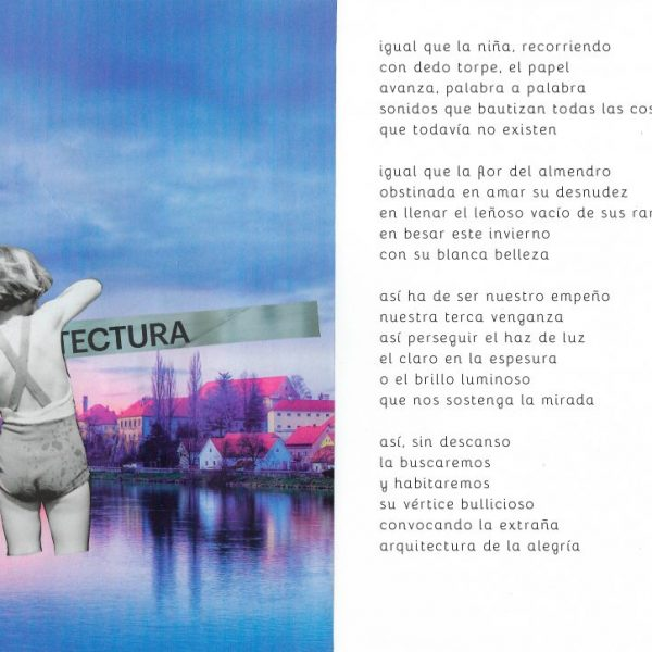 Poema inédito Mar Benegas Collage Jesús Ge